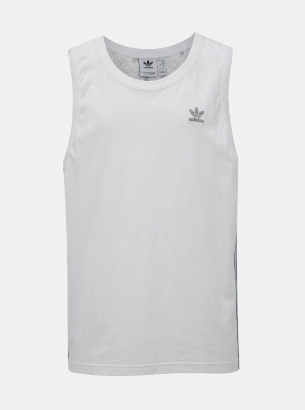 Biele pánske tielko s potlačou na chrbte adidas Originals Monogram