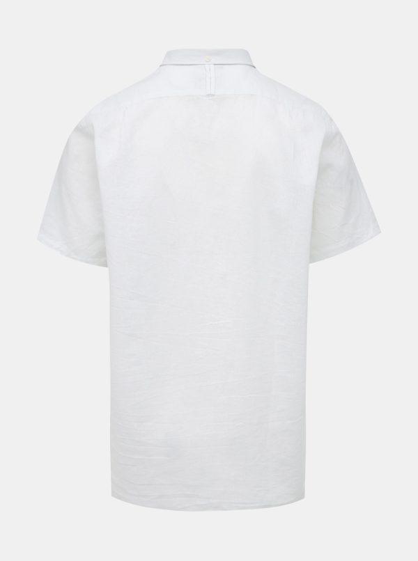 Biela ľanová košeľa Raging Bull
