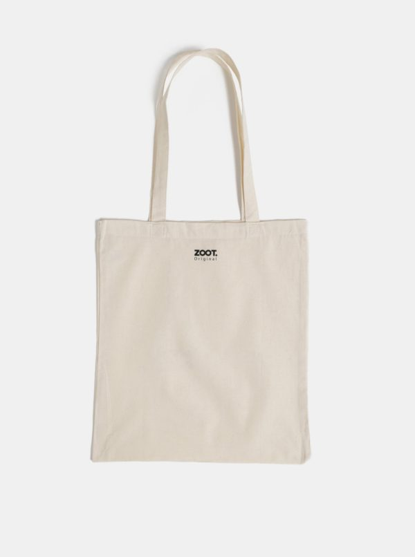 Béžová plátená taška ZOOT Original Namasté bitches