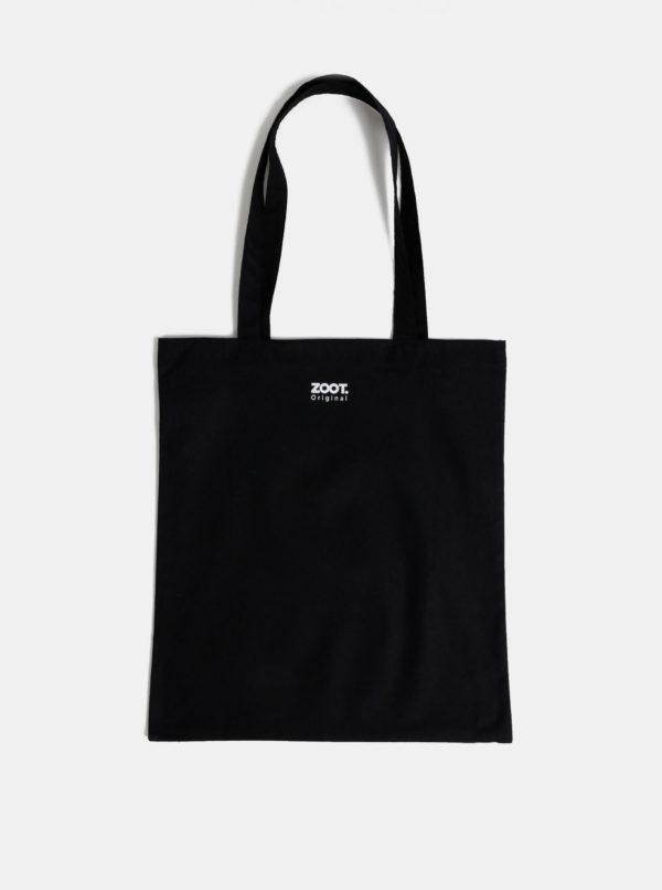 Čierna plátená taška ZOOT Original Black is my happy colour