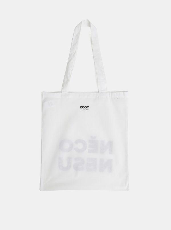 Biela plátená taška ZOOT Original Něco nesu