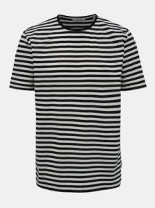 Bielo-modré pruhované basic tričko ONLY & SONS Jamie