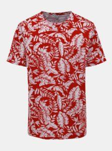 Bielo-červené vzorované tričko ONLY & SONS Gobber