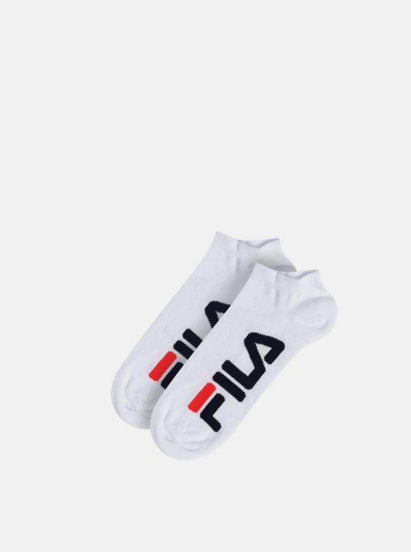 Sada dvoch párov pánských bielych nízkych ponožiek FILA