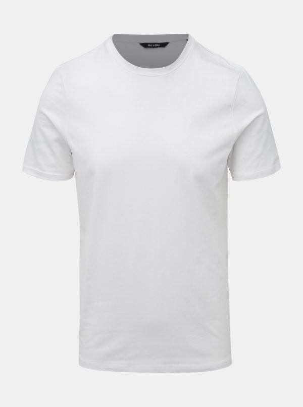Biele basic tričko ONLY & SONS Basic