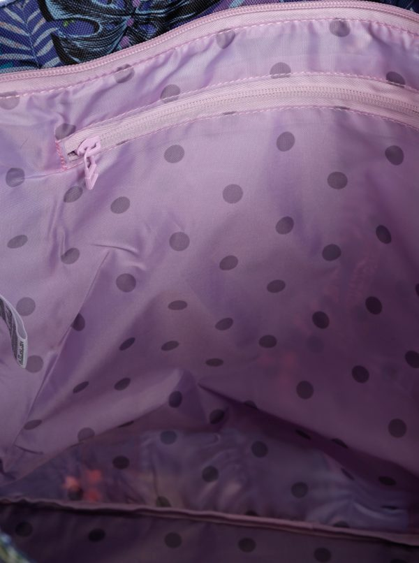 Tmavomodrá vzorovaná taška Femi Stories Biga
