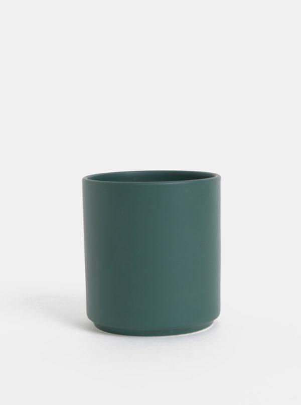 Zelená porcelánová dóza Design Letters Hey 300 ml