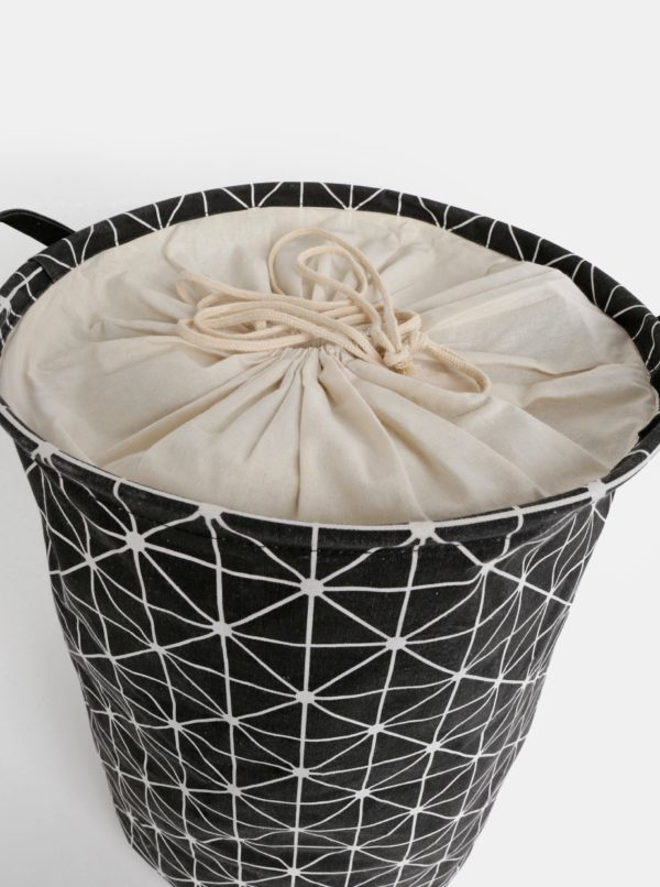 Čierny vzorovaný kôš na prádlo SIFCON