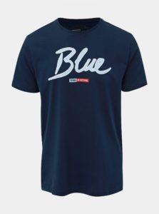 Tmavomodré slim fit tričko s potlačou ONLY & SONS Lounge