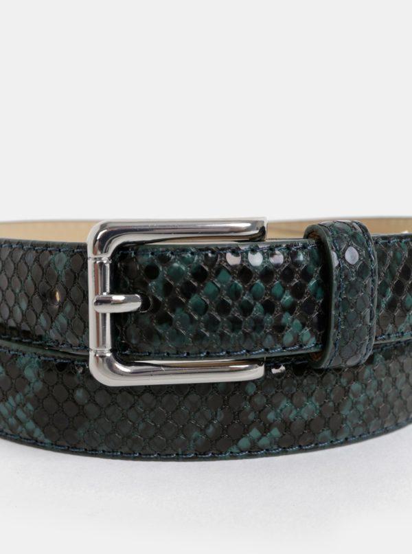Tmavozelený opasok s hadím vzorom Pieces Julie