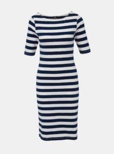 Bielo-modré pruhované púzdrové basic šaty ZOOT Venice