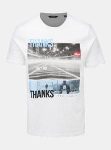 Biele tričko s potlačou ONLY & SONS Berge
