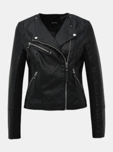 Čierna koženková bunda VERO MODA Ria