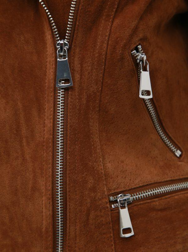 Hnedá semišová bunda VERO MODA Royce