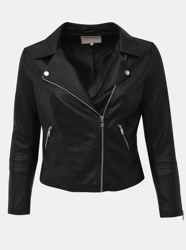 Čierna koženková bunda ONLY CARMAKOMA Emmy