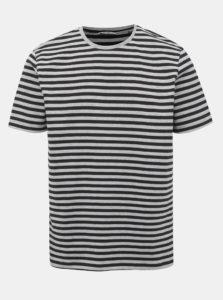 Čierno-šedé pruhované tričko ONLY & SONS Jamie