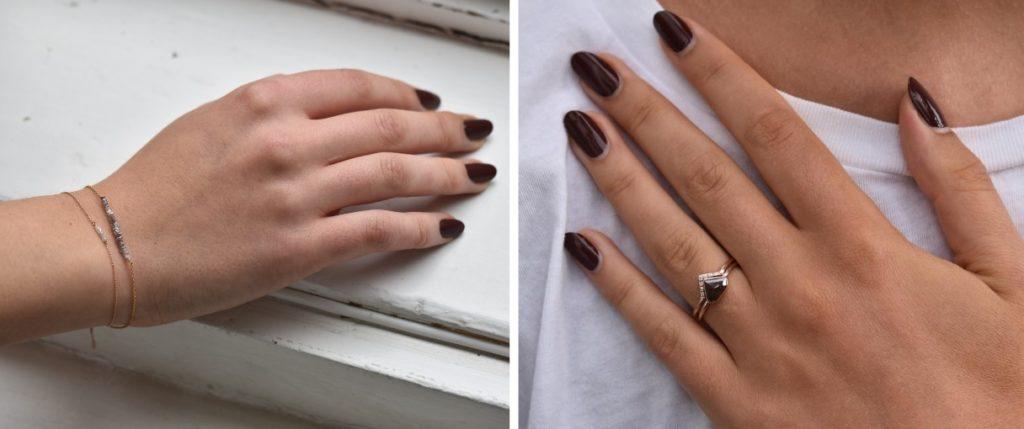 Jemný náramok a prsteň