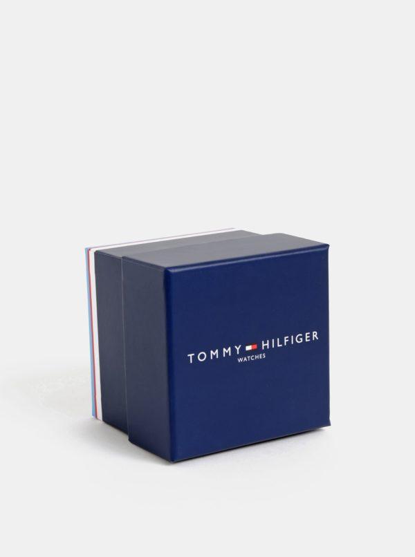 Hodinky s hnedým koženým remienkom Tommy Hilfiger