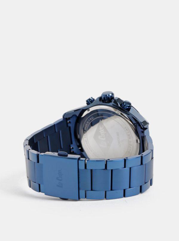 Pánske hodinky s tmavomodrým kovovým remienkom Lee Cooper