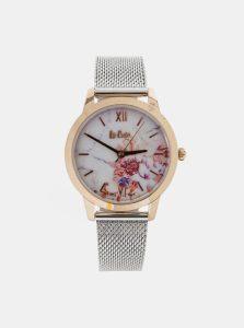 Dámske hodinky s kovovým remienkom ve striebornej farbe Lee Cooper