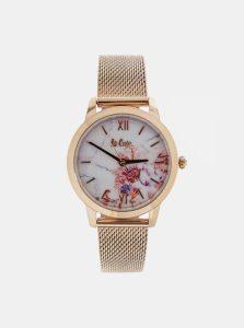 Dámske hodinky s kovovým remienkom v ružovozlatej farbe Lee Cooper