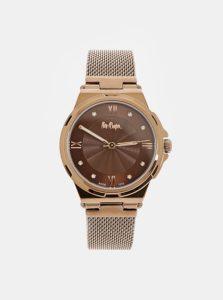Dámske hodinky s kovovým remienkom v medenej farbe Lee Cooper