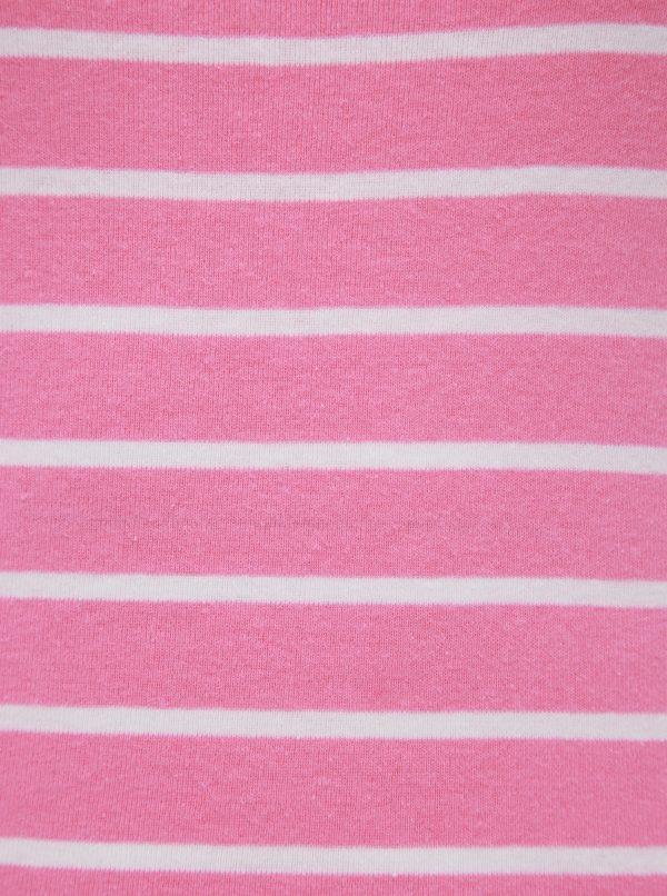 Rúžové pruhované basic tričko M&Co Bretton