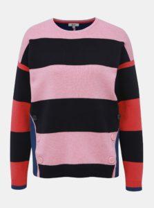 Modro-ružový pruhovaný sveter M&Co Milano