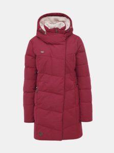 Vínový dámsky prešívaný funkčný zimný kabát Ragwear Pavla