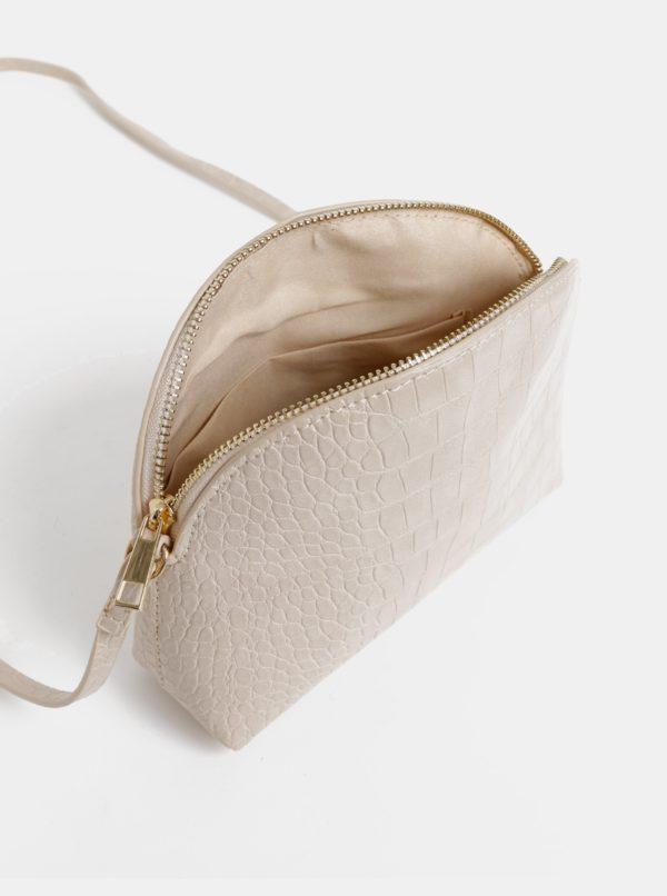Béžová crossbody kabelka s krokodýlím vzorom Haily´s Camilla