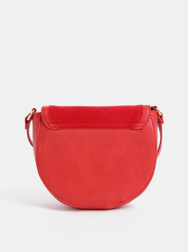 Červená crossbody kabelka v semišovej úprave Haily´s Ciara
