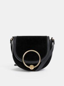 Čierna crossbody kabelka v semišovej úprave Haily´s Ciara