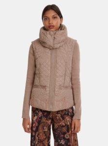 Béžová zimná bunda/vesta Desigual Nivy