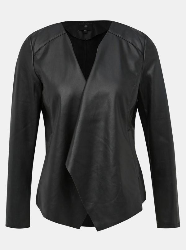 Čierna koženková bunda Dorothy Perkins