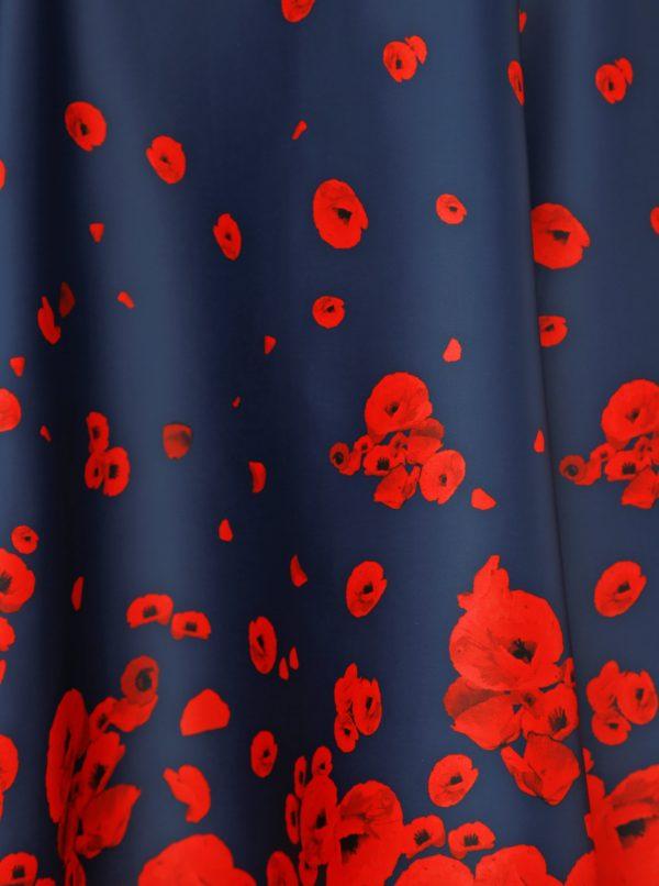 Červeno-modré kvetované šaty Dolly & Dotty Claudia