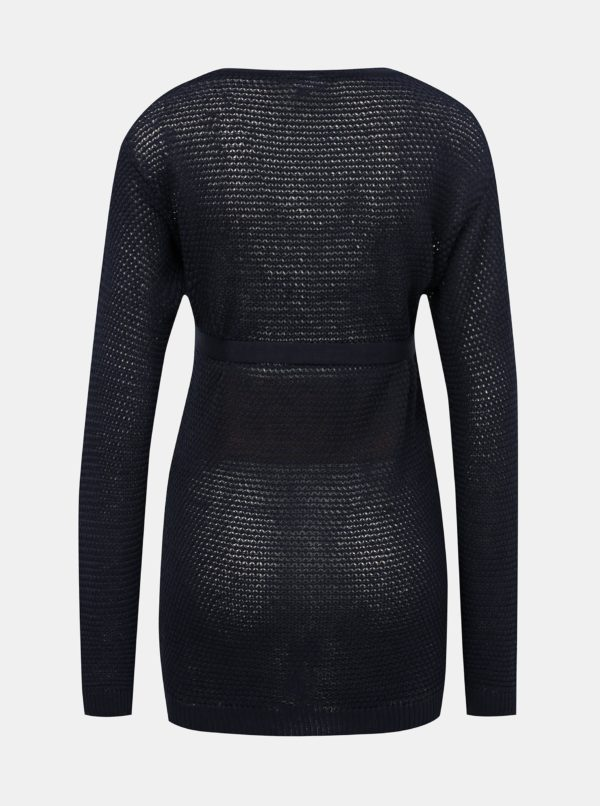 Tmavomodrý tehotenský sveter Mama.licious Crystaline