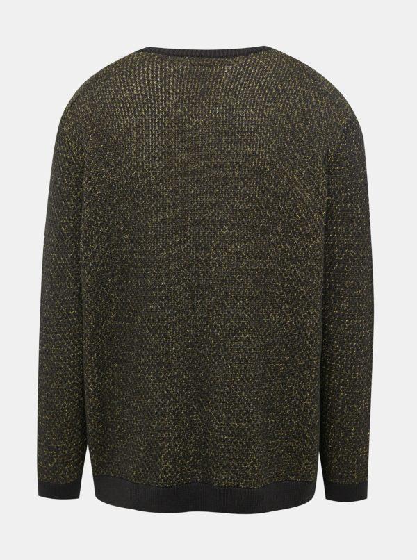 Tmavozelený žíhaný sveter ONLY & SONS Call