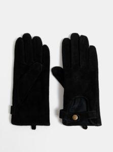 Čierne semišové rukavice ONLY Biker