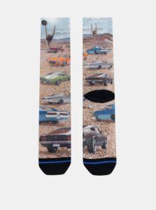 Béžové pánske vzorované ponožky XPOOOS
