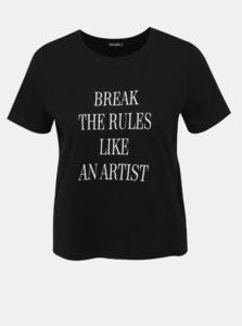 Čierne tričko s potlačou TALLY WEiJL