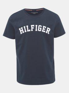Tmavomodré pánske tričko s potlačou Tommy Hilfiger
