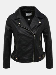 Čierna koženková bunda Dorothy Perkins Petite