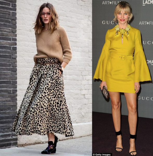 Outfity Olivia Palermo a Cameron Diaz
