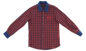 Chlapčenské  Košeľa  detská John Richmond -  modrá červená