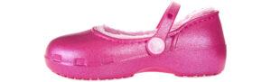 Dievčenské  Karin Fuzz Lined Clog Baleríny detské Crocs -  ružová