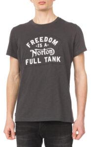 Pánske  Frame Tričko Norton -  šedá