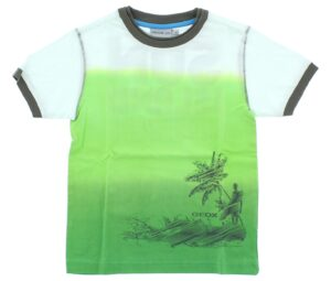 Chlapčenské  Tričko detské Geox -  zelená biela