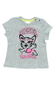 Dievčenské  Tričko detské Diesel -  šedá