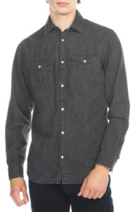 Pánske  New Košeľa Jack & Jones -  čierna