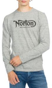 Pánske  Grommet Tričko Norton -  šedá